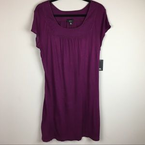 Mossimo Purple Beaded Jersey Tunic